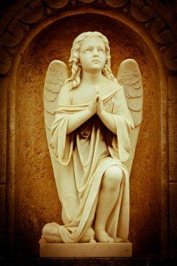 Beautiful vintage image of a praying angel