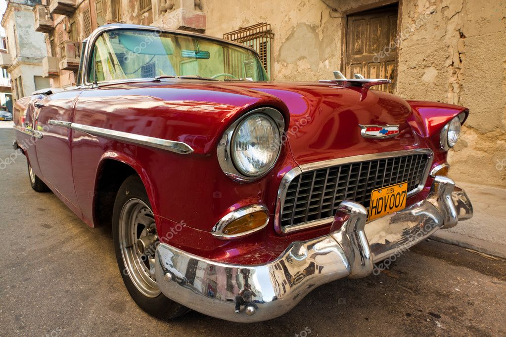 Old classic american car, an icon of Havana – Stock Editorial ...