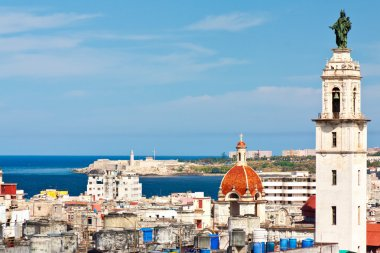 View of Havana with the bay on the background