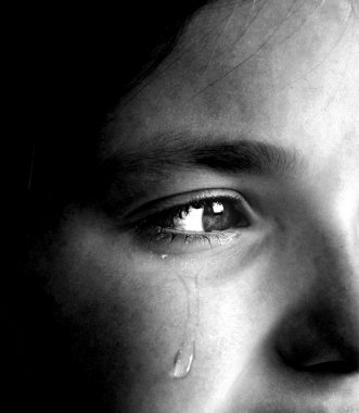 Girl Crying with Tear