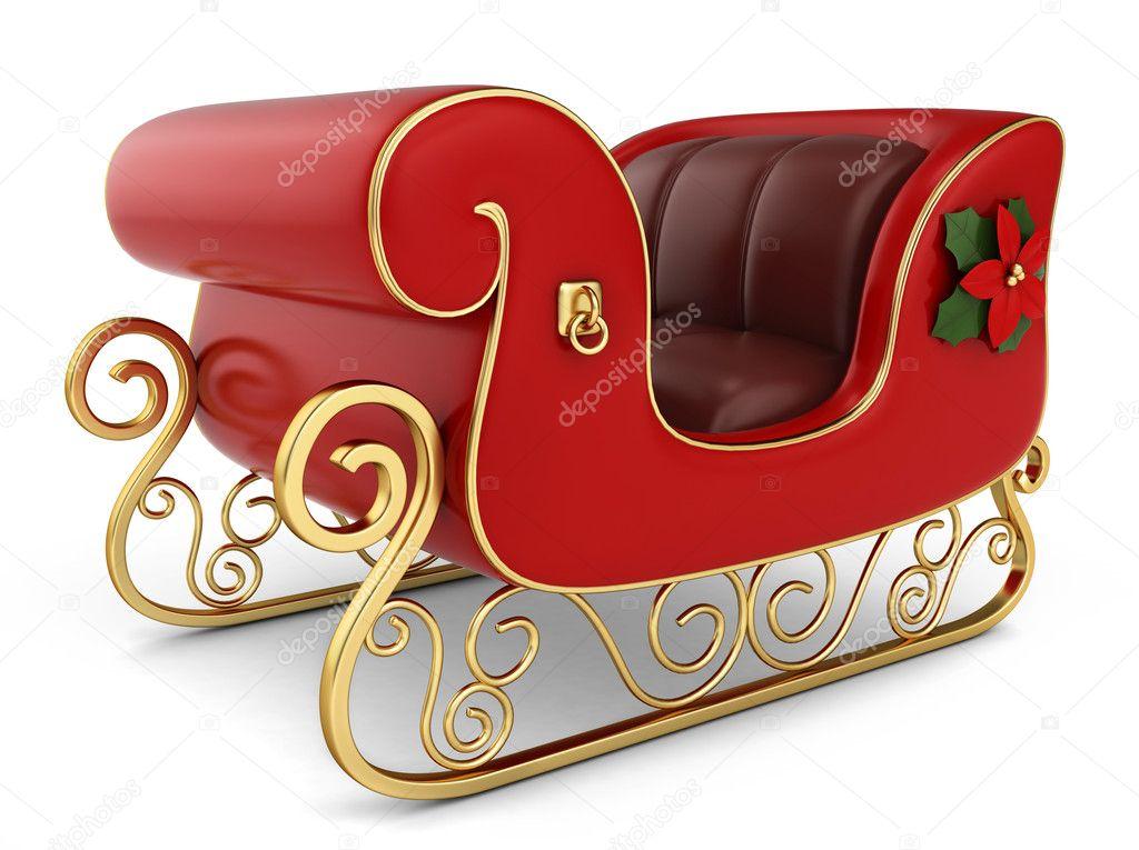 Weihnachts-Schlitten — Stockfoto © lenmdp #8137424