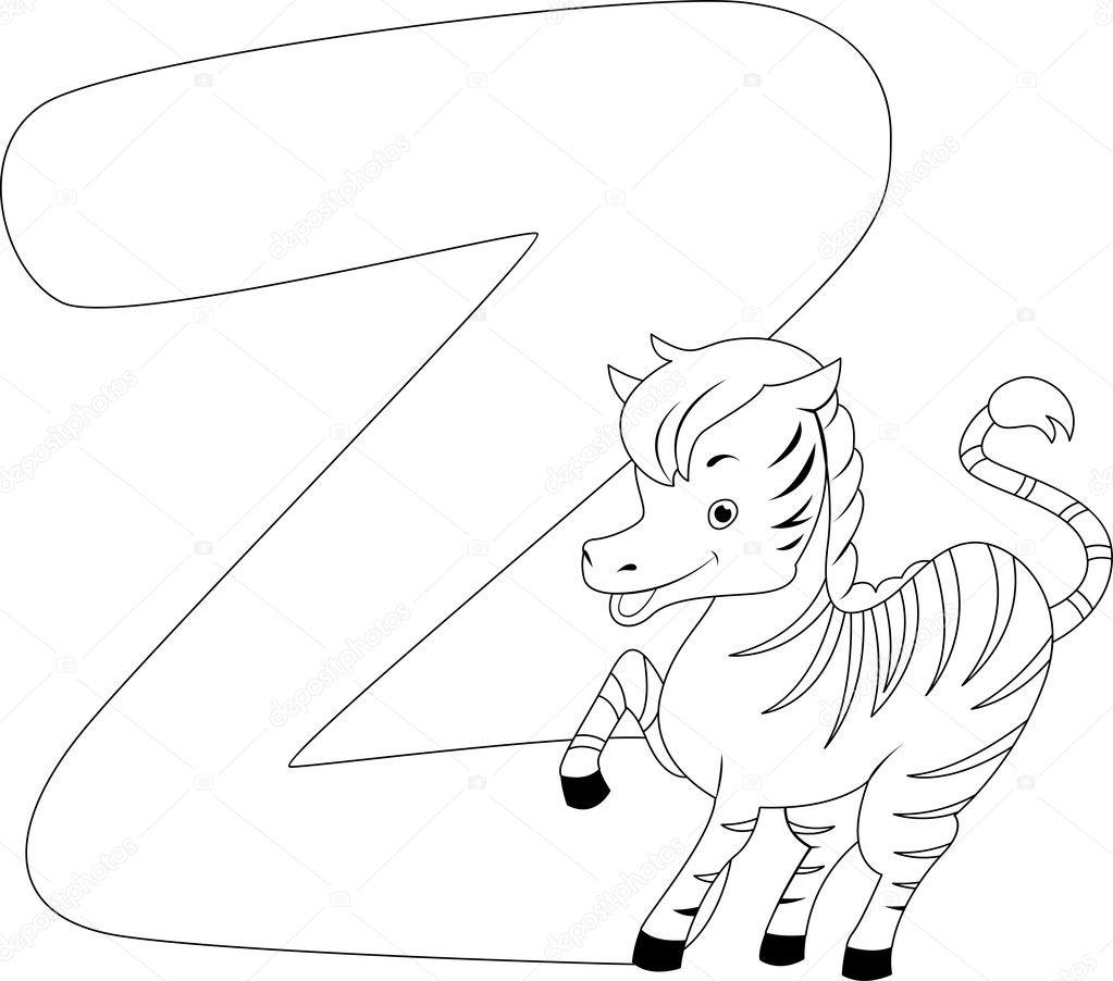 Boyama Sayfası Zebra Stok Foto Lenmdp 8585730