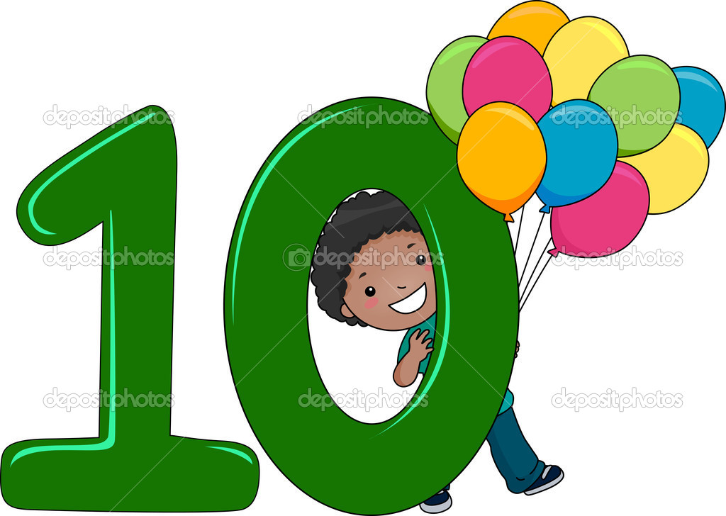 Numero 10 Con Imagenes: Chico Número 10 — Foto De Stock