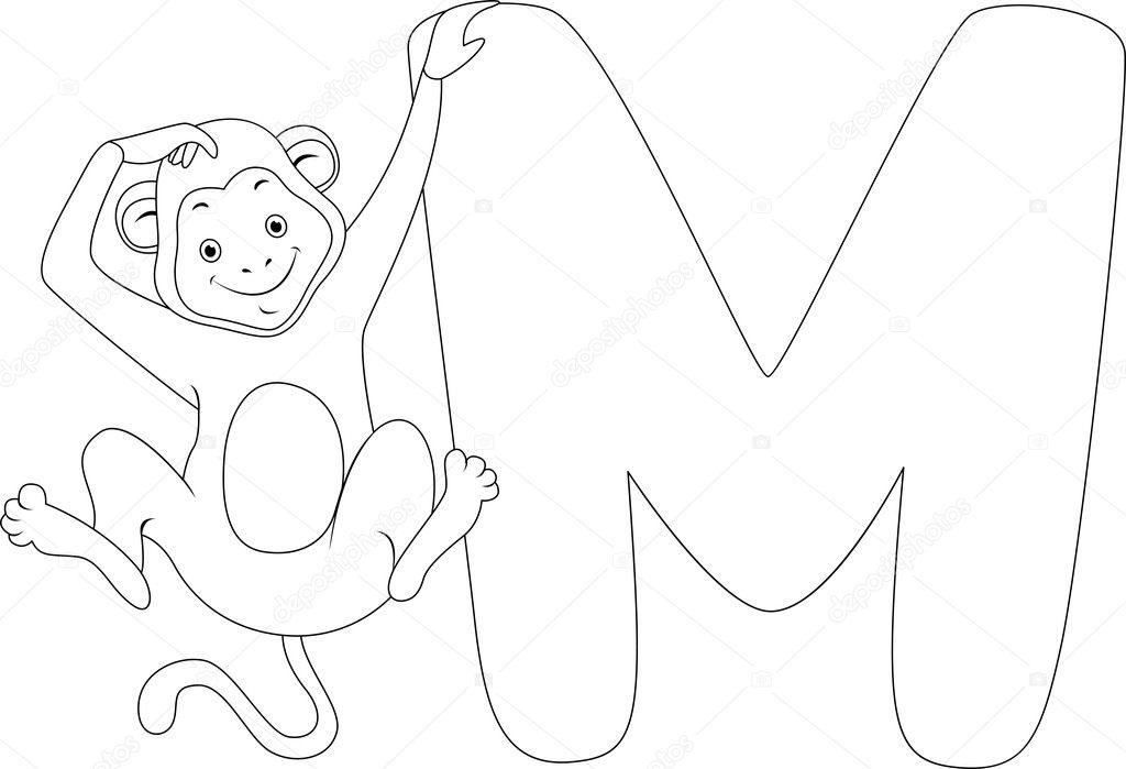 Sayfa Maymun Boyama Stok Foto Lenmdp 8942734