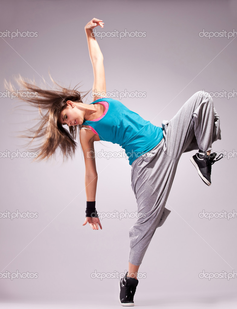 Beautiful dance pose of a young woman