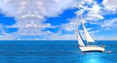 vitorlás hajó, vitorlázás, reggel