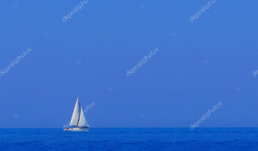 Boat in deep blue water