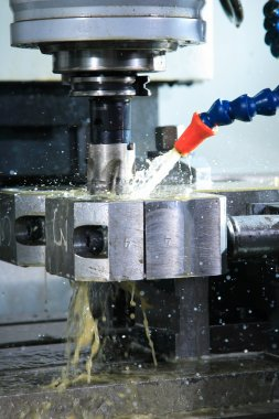 Machine with metal-working coolant