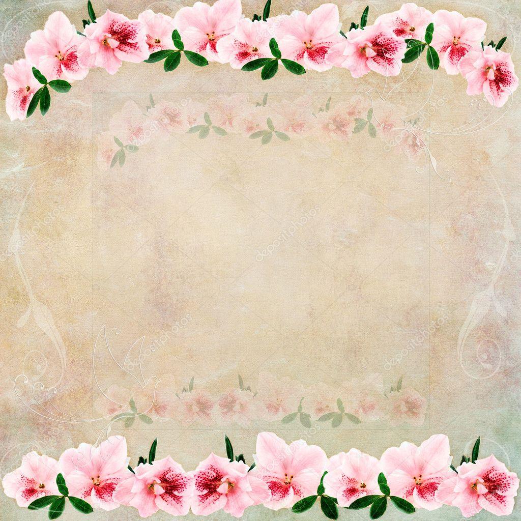 New Vintage Floral Background Pinterest