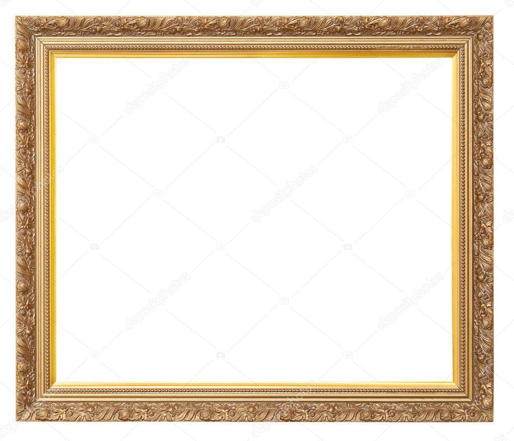 Hermoso marco dorado vintage para pinturas decoradas con - Marcos vintage para fotos ...