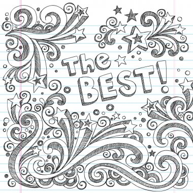 The Best Sketchy Doodles Design Elements Vector Set