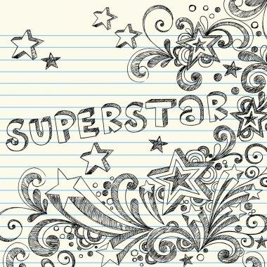 Sketchy Superstar Back to School Starburst Notebook Doodles