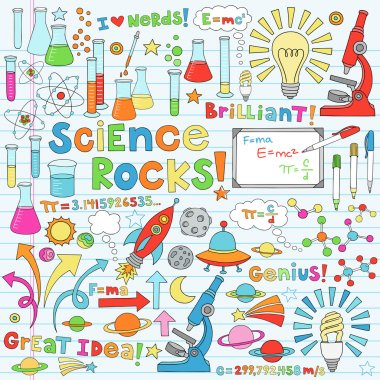 Science Back to School Notebook Doodles Vector Illustration Design Elements stock vector