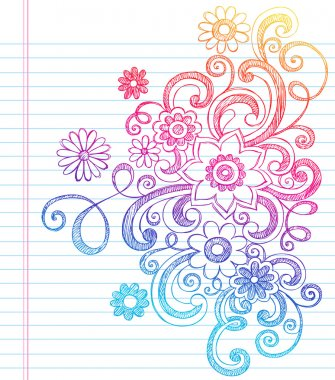 Flower Sketchy Doodles Vector Illustration