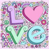 Fényképek Valentin szerelem Notebook Doodles készlet