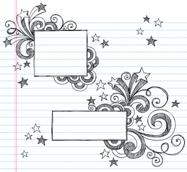 Back to School Sketchy Doodle Vector Frame