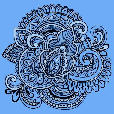 Henna Abstract Ornate Tattoo Doodle Vector