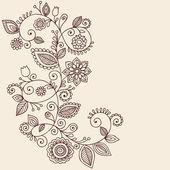 Henna tetování paisley květin a keřů čmáranice vektor