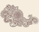 Fotografia mehndi hennè tatuaggio doodles vector design elementi