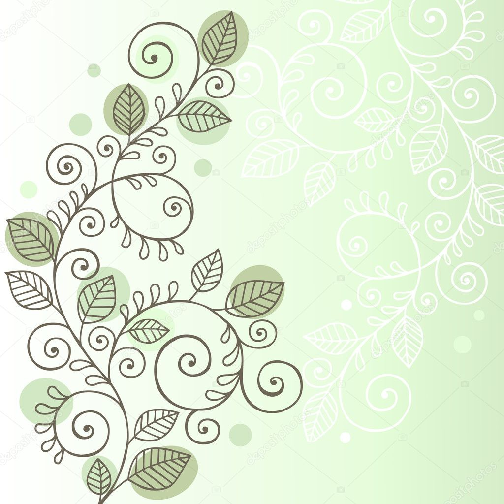 Vines and Leaves Notebook Doodle Design