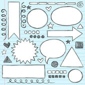 Photo Frames and Borders Back to School Sketchy Doodles Vector