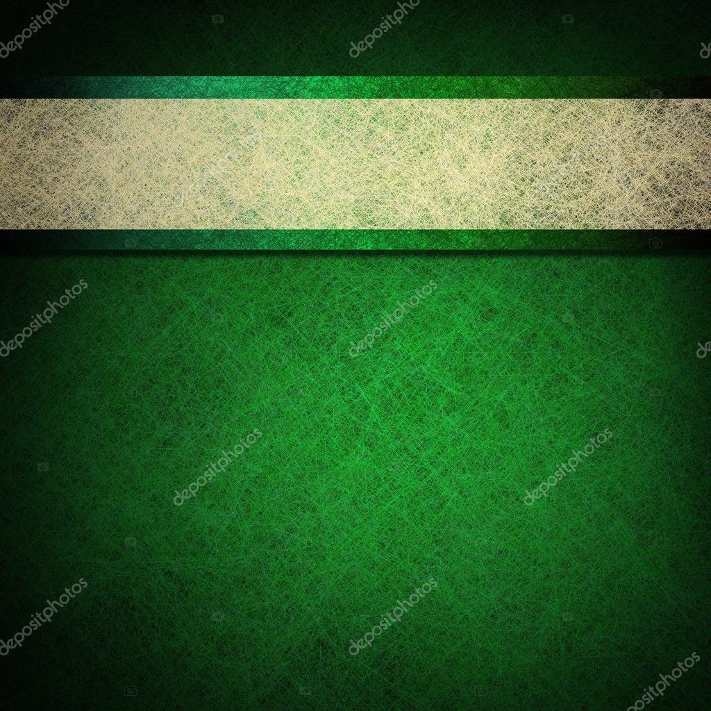 Green background with white ribbon