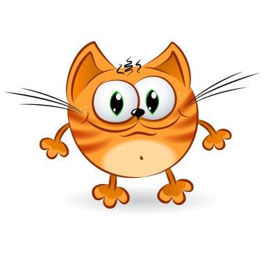 Happy cartoon ginger cat