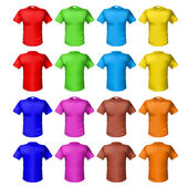 Photo Bright colored shirts