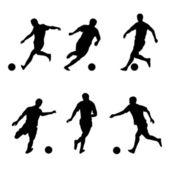 Fotbal, fotbalové hráče siluety