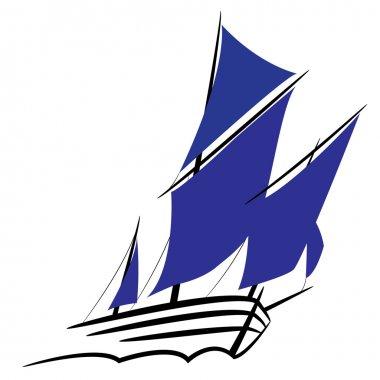 Symbol of a sailing