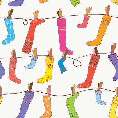 Socks seamless funny wallpaper
