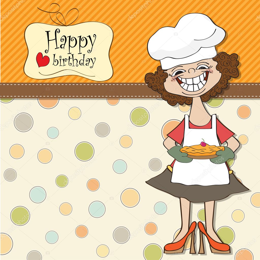 Pictures: funny pie   Birthday greeting card with funny