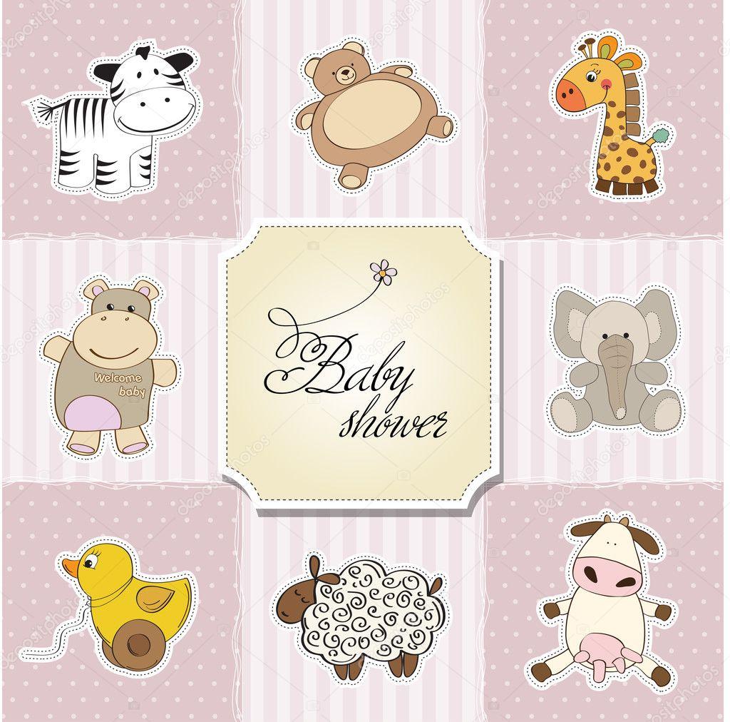 Baby Shower Card Template   Baby Shower Card Template Illustration Fotos De Stock