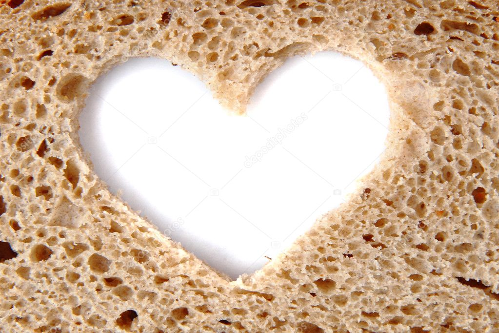 Nice bread heart