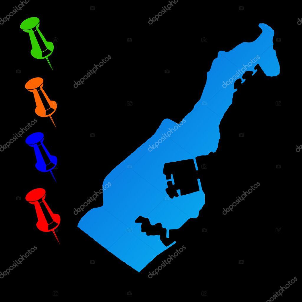 Monaco travel map Stock Photo speedfighter17 8180640