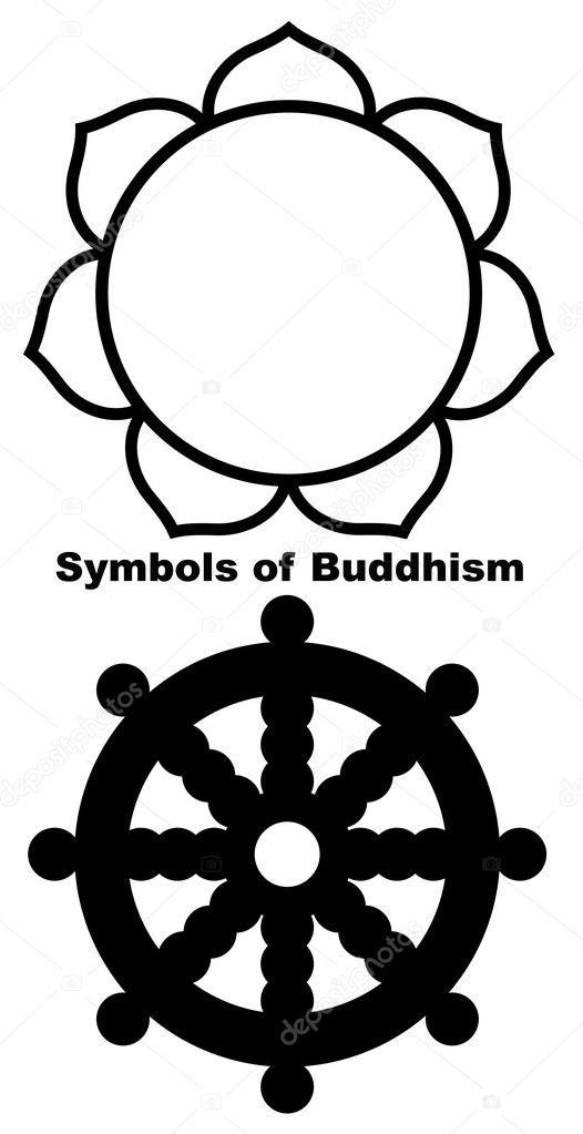 Buddhist lotus flower stock photo speedfighter17 8339125 buddhist lotus flower in black silhouette isolated on white background photo by speedfighter17 mightylinksfo