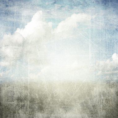 Abstract grunge textured background with clouds