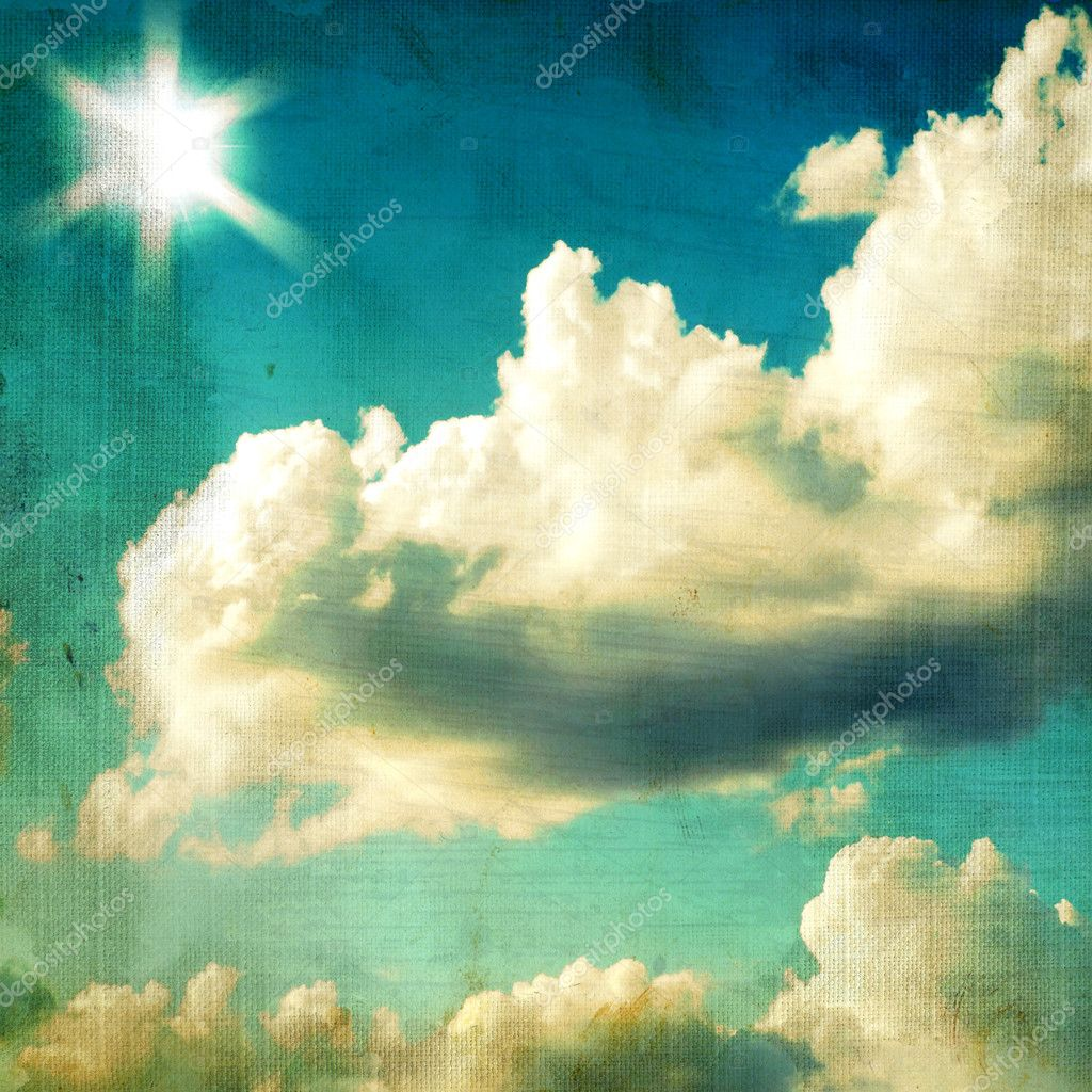 Vintage textured background - sky