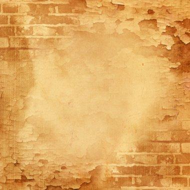 Abstract wall, brick, cracked paint