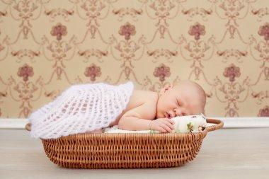 Newborn sleeping child