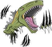 Fotografie Velociraptor Dinosaur Vector Illustration