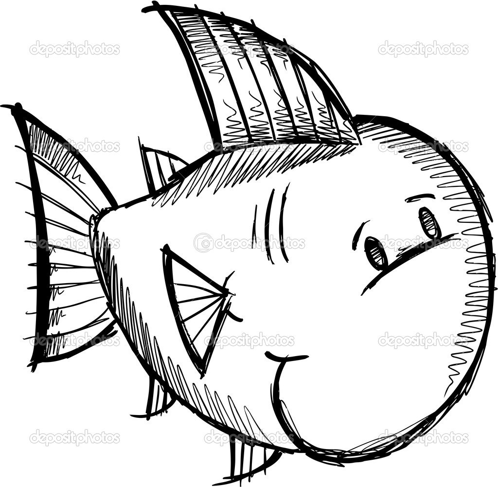 Fish Sketch Doodle Vector Stock Vector C Misterelements 10468870