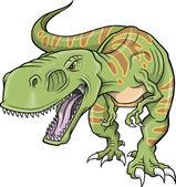 Fotografia illustrazione vettoriale di tirannosauro dinosauro