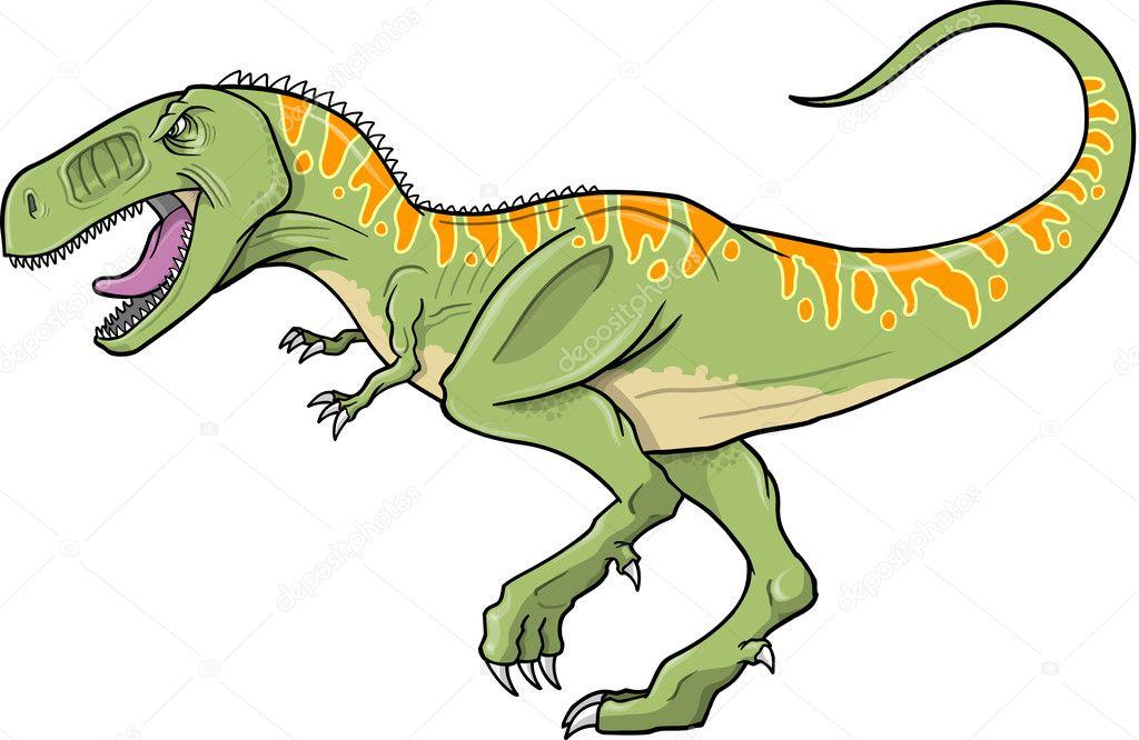 Tyrannosaurus Dinozor Vektör çizim Stok Vektör Misterelements