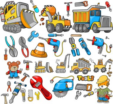 Construction Vector Design Elements Set