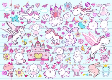 Easter Spring Vector Illustration Elements Set