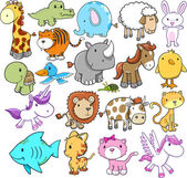 Photo Cute Animal Vector Design elements Set