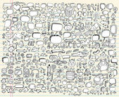 Photo Notebook Doodle Sketch Vector Design elements Set
