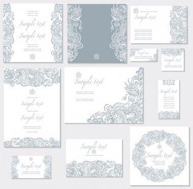 Vector template for wedding cards clip art vector