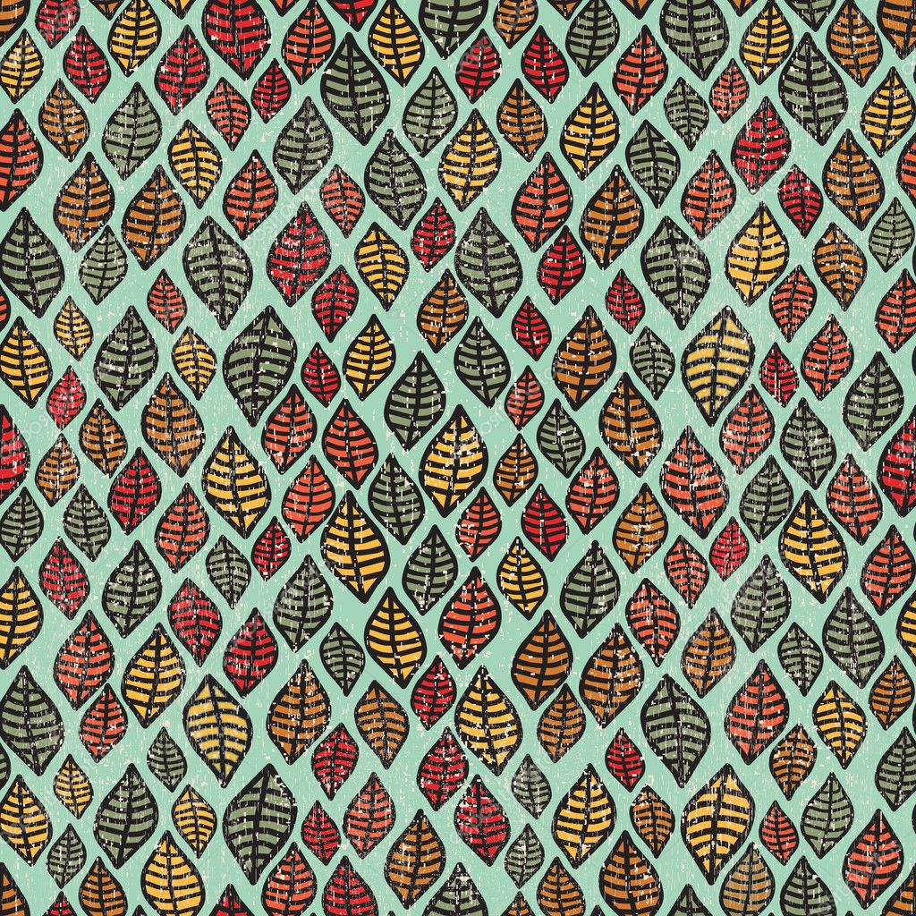 Cool seamless pattern with leaves.